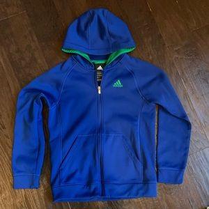Adidas boys zip up hoodie